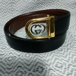 Gucci Reversible Leather Two Tone Belt